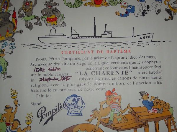 [ Les traditions dans la Marine ] Les diplômes de la Ligne 061124064244221729