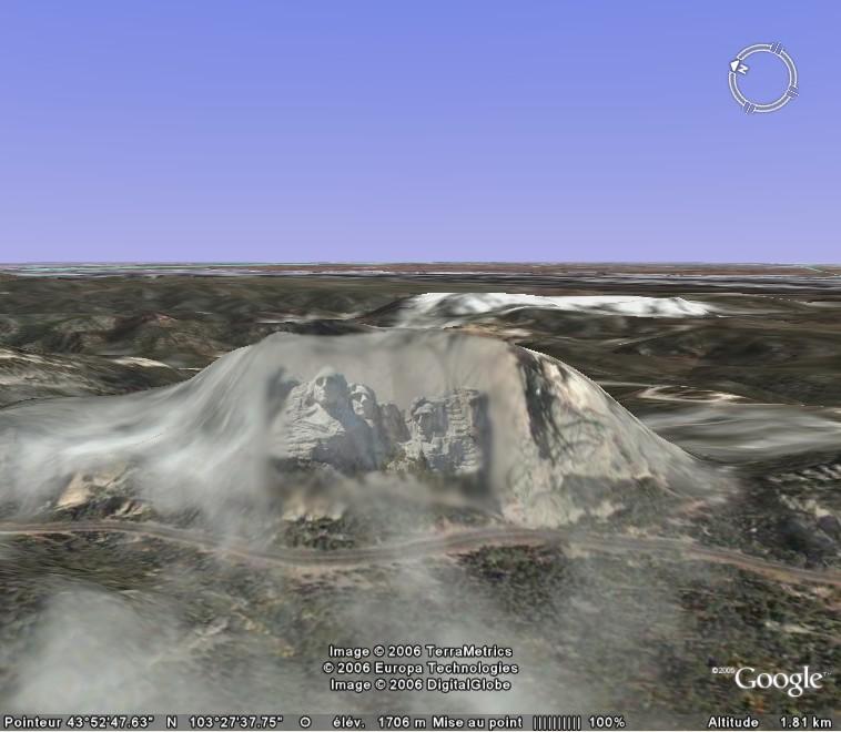 Tête de mort sur le Mont Rushmore, Dakota du Sud 061202090258232490