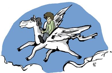 les aventures de Charlie et le cheval blanc volant