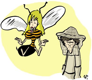 J'ai les z'abeilles ...