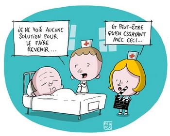 Dans le coma