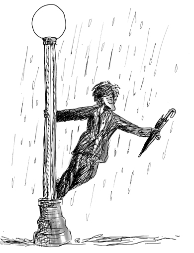 I'm singing in the rain ...