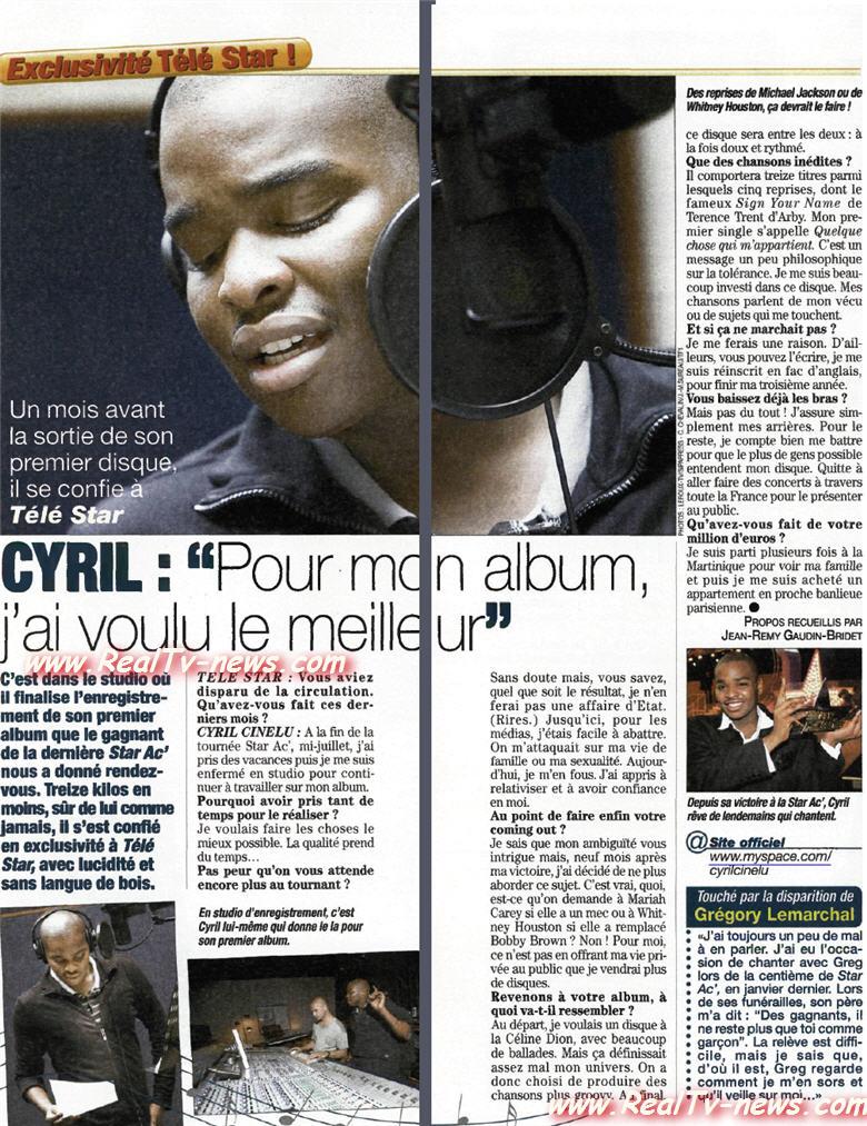 ITW de Cyril, un mois avant la sortie de son premier album 07100210330250461290380